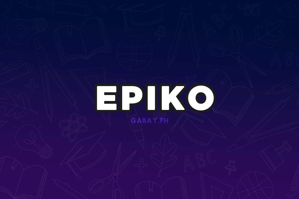 Ano ang Epiko