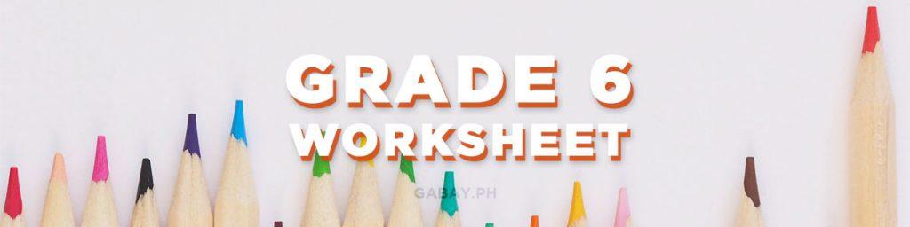 grade 6 worksheets
